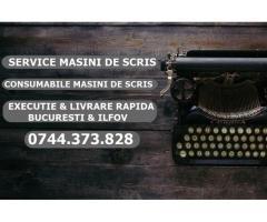Service masini de scris 0744373828 consumabile masini de scris in Bucuresti si Ilfov.