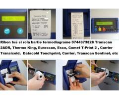 Ribon tus si rola hartie pentru inregistrator temperatura Transcan, Thermo King  Carrier, Data Cold,