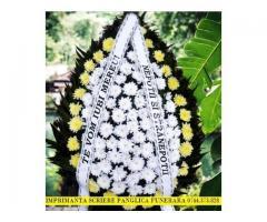 Imprimanta scriere panglica lenta pentru coroane, jerbe, aranjamente florale, buchete de flori.