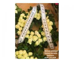 Imprimanta panglica ptr. aranjamente florale 0744373828, funerare, ceremonii, evenimente festive.