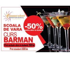 Curs Barman - oferta speciala  pentru elevi si studenti