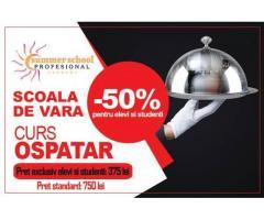 Curs Ospatar (Chelner) - oferta speciala pentru elevi si studenti