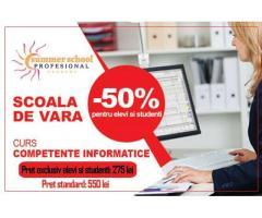 Curs  Competente Informatice - oferta pentru elevi si studenti