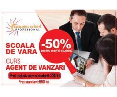 Curs Agent vanzari - oferta speciala pentru elevi si studenti