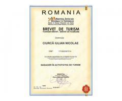 Obtinem brevete pentru  manageri de turism si directori de turism
