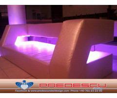 Coltare Canapele Club Cu Lumini LED Incorporate Predescu Rebel Design