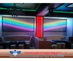 LED Pixeli Pereti Dinamici Lumini Club Predescu Rebel Design