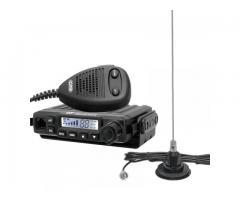 CRT Millenium Statie Radio CB + Sonar 825 Antena Magnetica