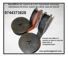 Panglici tus pentru masini de scris 0744373828, bicolore si monocrome.