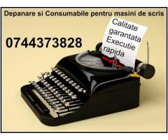 Service si consumabile masini de scris 0744373828 mecanice si electrice, in Bucuresti si Ilfov.